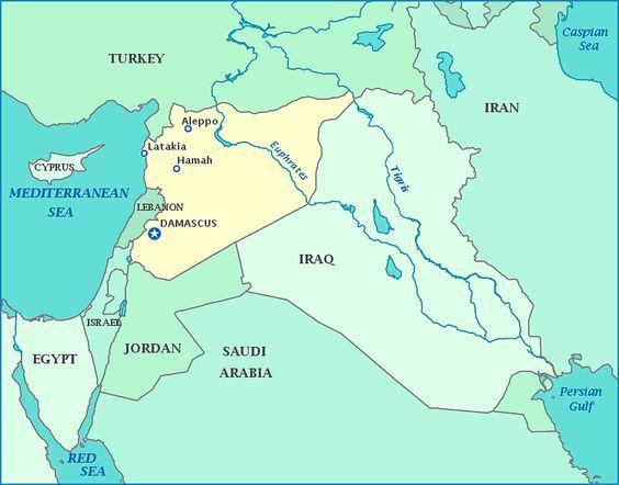 Syria map Map of Syria Damascus Turkey Iraq Jordan Lebanon – Syria Map World