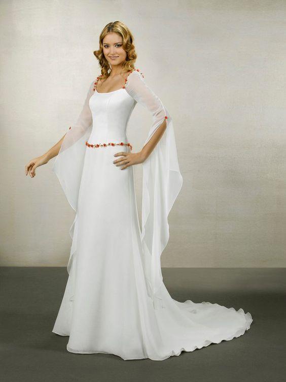 Vestido medieval de boda