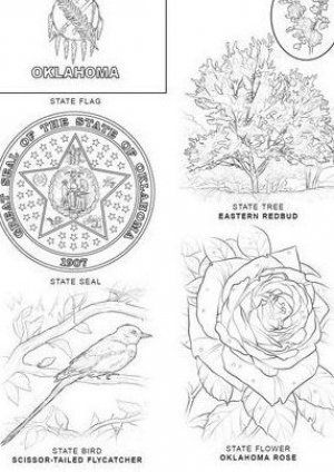 Oklahoma State Symbols Coloring Page From Oklahoma Category Select From 20946 Printable Crafts Of Cartoons Nat Oklahoma Art State Symbols Flag Coloring Pages
