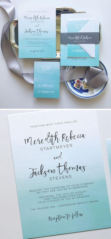 Ideas de invitaciones/ boda en la playa 11