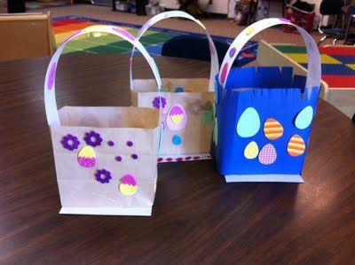 Paper bag Easter baskets..