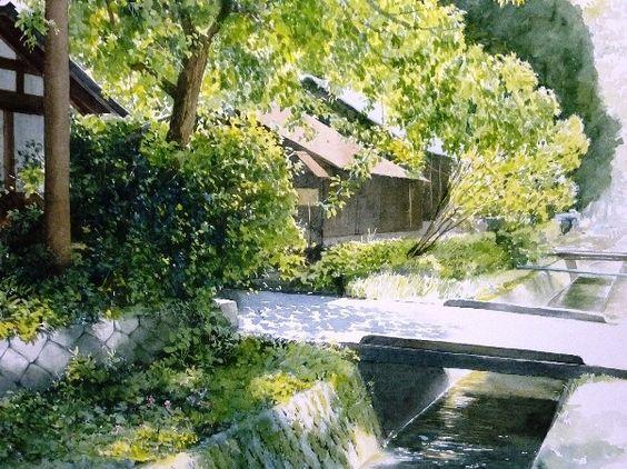 夏の水彩画帖 summer   あべとしゆき水彩画ギャラリー abe toshiyuki ...