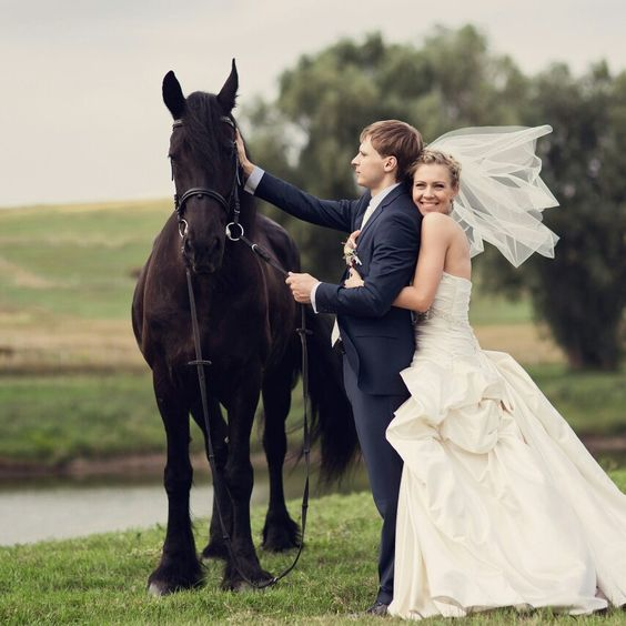 That is love!  #maryagency #agencymary #wedding #perfectmoment #horse #weddinghorse