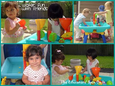 The Educators' Spin On It: Water Fun with Babies and Toddlers - lots of good ideas including DIY water tables
