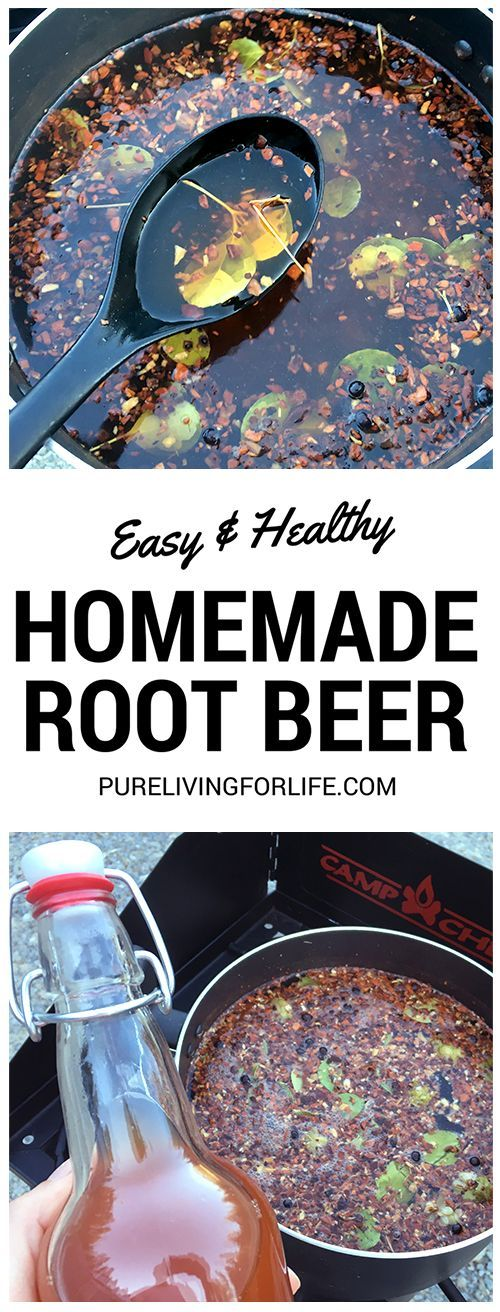 Great recipe to make your own healthy root beer, full of probiotics!