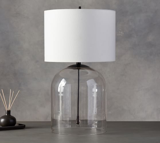 Aria Dome Table Lamp Pottery Barn Table Lamp Clear Glass Table Lamp Table Lamp
