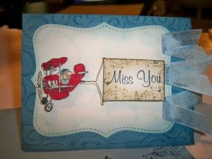 Sign from Above Rubber Stamp, Card by Crystal L.