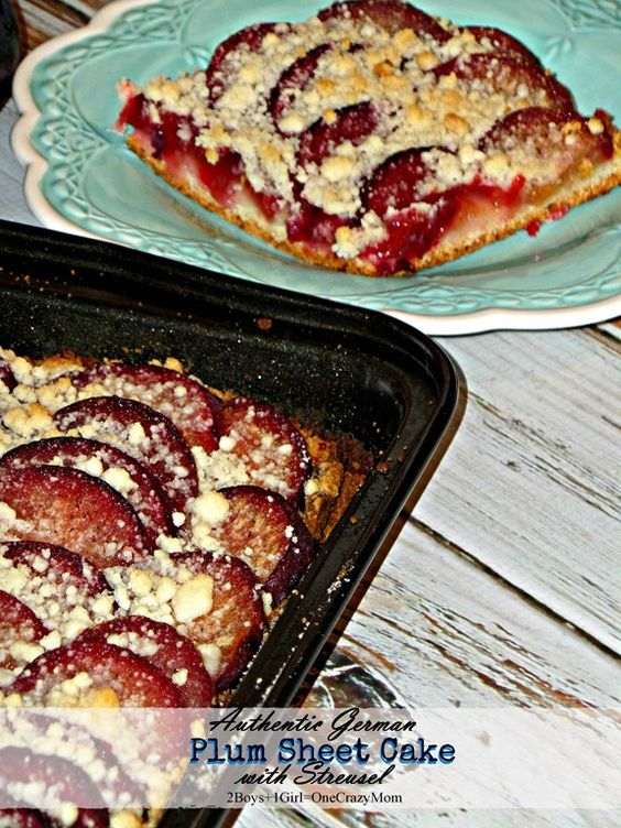 Authentic german plum kuchen