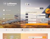 Lufthansa Concept #webDesign