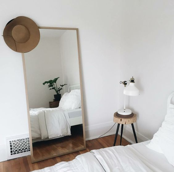 amor minimalist bedroom and the mirror on pinterest