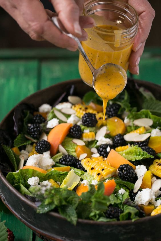 This blackberry apricot salad uses summer's finest produce and the ...