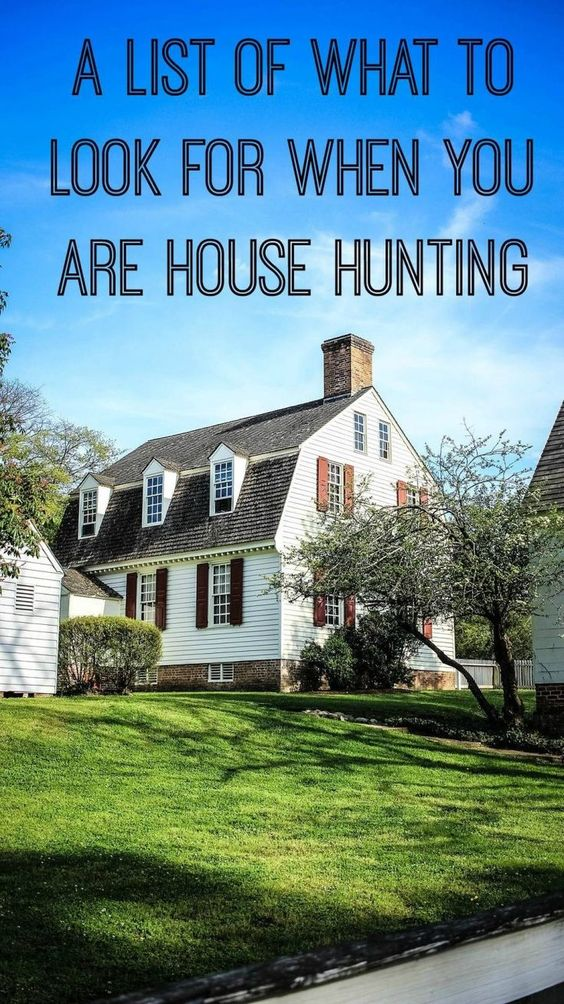 What to look for when you are house hunting - a list of things to look for when you are buying a house that will ultimately save you money in the long run. House buying tips