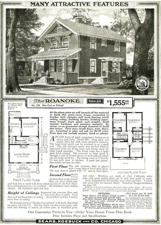 floor plans sears catalog homes house design plans