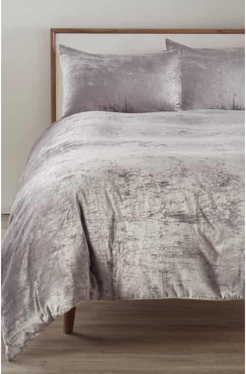 Image Result For Grey Bed With Indigo Loft Crushed Velvet Duvet Violet Velvet Duvet Bed Linens Luxury Velvet Comforter