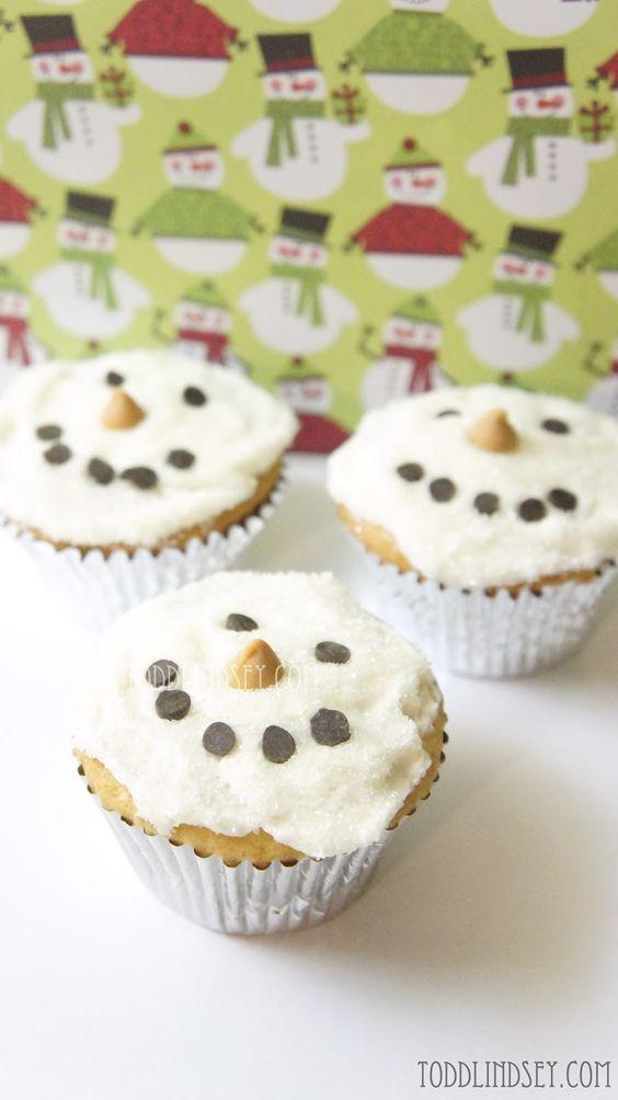 Snowmen Butter Cake Cupcakes