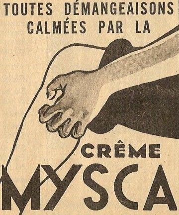 Mysca Cream for itching. Toutes démangeaisons calmées par le crème Mysca.