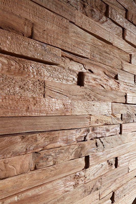 Einzigartige Optik Aus Handgeburstetem Teakholz Planeo Wandverkleidung Einfach Und Genial Wandverkleidung Wand Mit Holz Verkleiden Naturstein Wandverkleidung