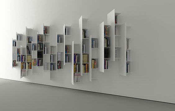 Second And A Half Dimension Shelves (02) [Creative Bookshelf 0094] |  Creative Design. Bookshelves | Pinterest | Shelves, Creative And Creative  Bookshelves