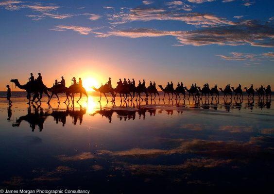 Broome Western Australia beach at sunset