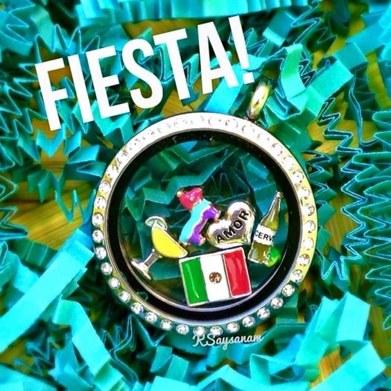 #CincoDeMayo #Fiesta time with an #OrigamiOwl Living #Locket. Customize yours cabaray.origamiowl.com #Cerveza #Mexico Cinco De Mayo.
