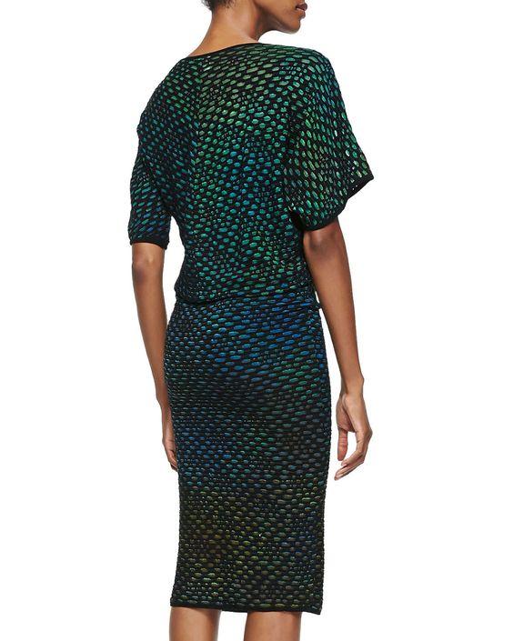 Bubble Knit Mid-Calf Dress