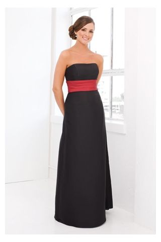 Dreamlike Simple Black Attire in Red Sash  Wedding colors Red ...