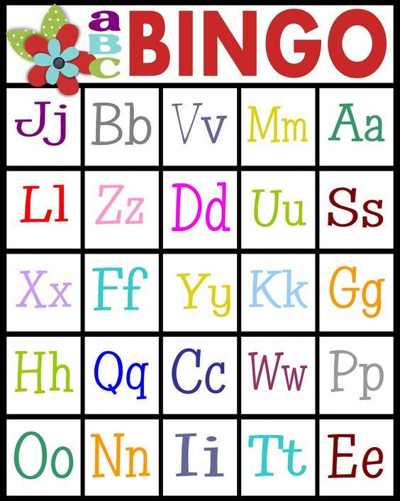 Sweet image inside abc bingo printable