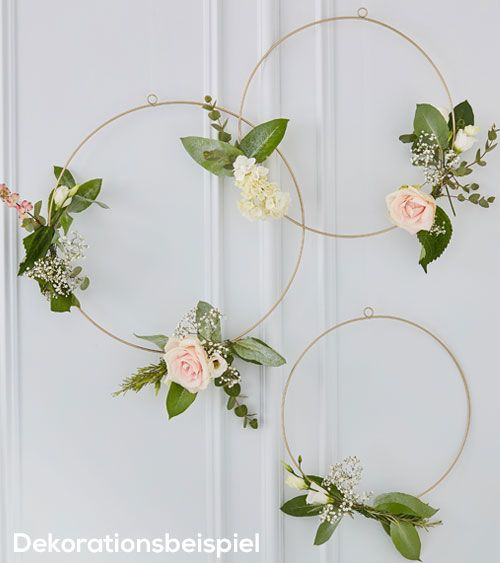 Goldene Ringe Zum Verzieren Floral Hoops 3 Teilig In 2020
