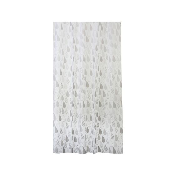 Dainty Home Raindrops 13 Piece Shower Curtain Set