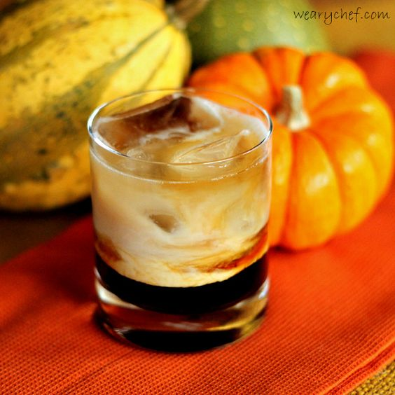 Pumpkin Spice White Russian Cocktail #CMcantwaitCGC via The Weary Chef