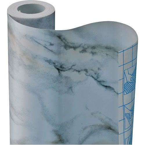 Gray Marble Self Adhesive Vinyl Contact Paper Shelf Drawer Liner ...