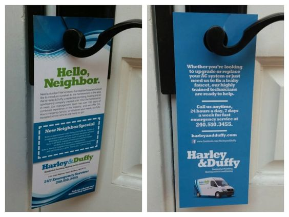 Harley & Duffy - Upper Marlboro, MD, United States. Door hangers! We put these out in Upper Marlboro in early October 2014. Did you get one?