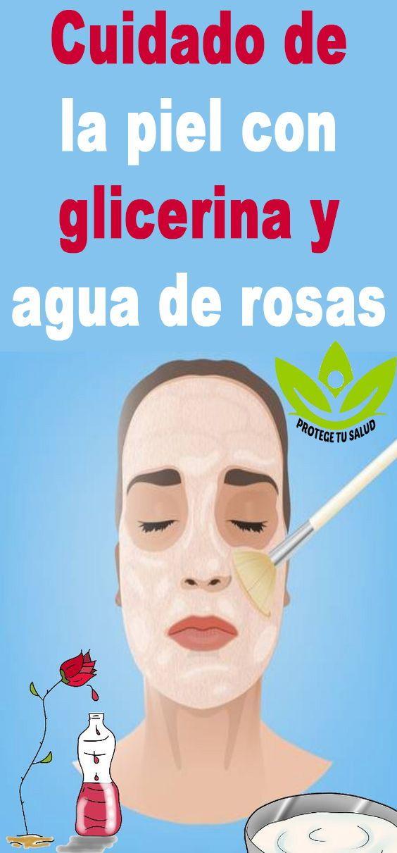 agua de glicerina para la cara