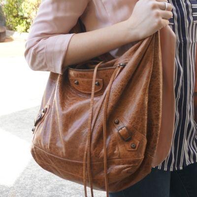Balenciaga truffle brown RH classic day bag