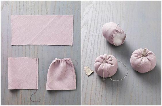 Le Frufrù: Zucche con vecchi maglioni o scampoli di stoffa