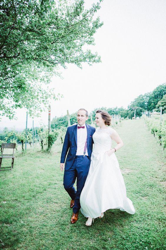 Malerische Hochzeit auf dem Weingut | Hochzeitsblog The Little Wedding Corner