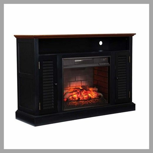 Fireplace Tv Stand Entertainment, Black Media Storage Tv Stand And Electric Fireplace