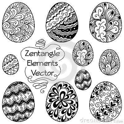 Uova degli elementi di Zentangle