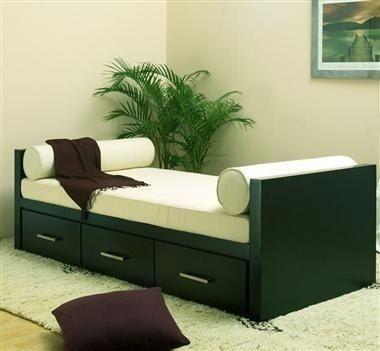 Cama divan 1 plaza con cajones o con cama carrito for Sillon cama con cajones