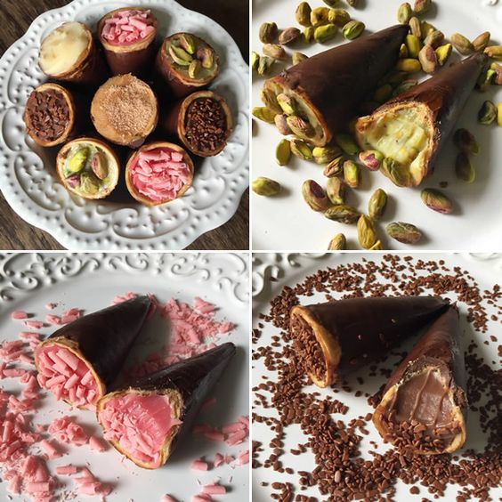 casquinha recheada de chocolate jm patisserie.:
