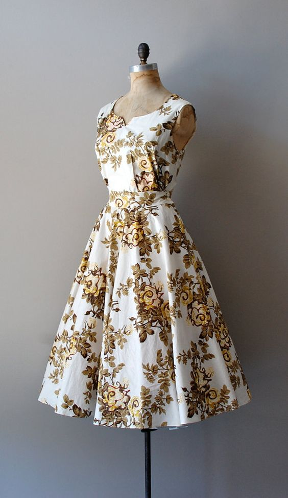 vintage 1950s Floral Humoresque dress
