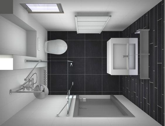 Ontwerp kleine badkamer alles over kleine badkamers op kleine for Plan kleine badkamer