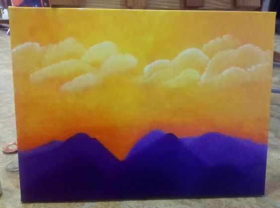 week 12, landscape, oil on canvas