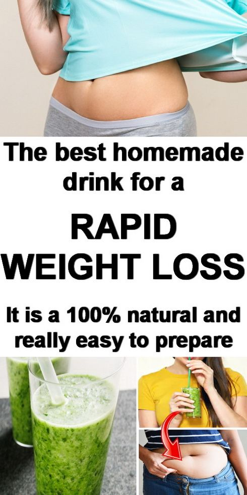 The Best Homemade Drink For A Rapid Weight Loss...