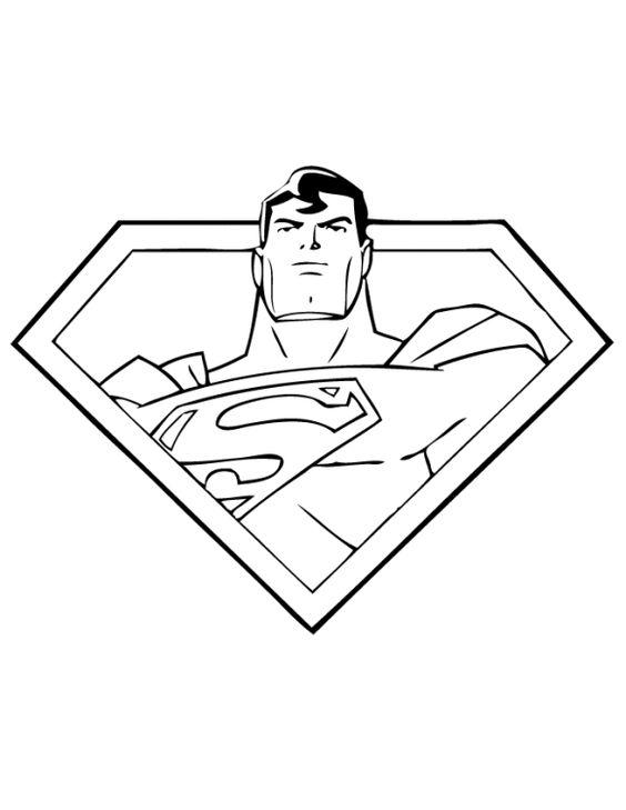 cool superman coloring pages printable kleurplaat