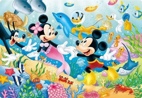水の中のミッキーマウスたち