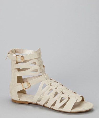 Cream Gladiator Heels | Tsaa Heel