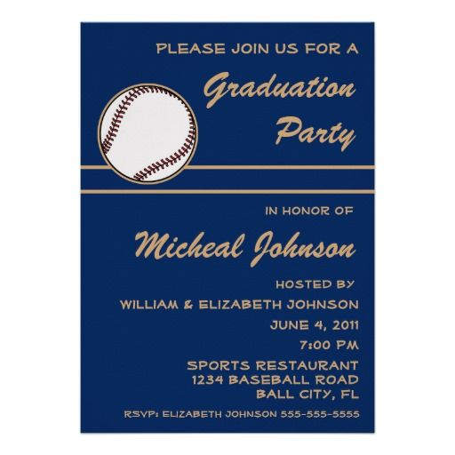 Baseball Ball Player Sports Graduation Party Blue Personalized Invite This site is will advise you where to buyShopping          Baseball Ball Player Sports Graduation Party Blue Personalized Invite please follow the link to see fully reviews...