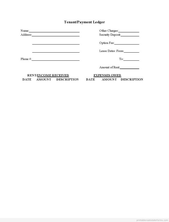 Free printable on Pinterest - ledger form