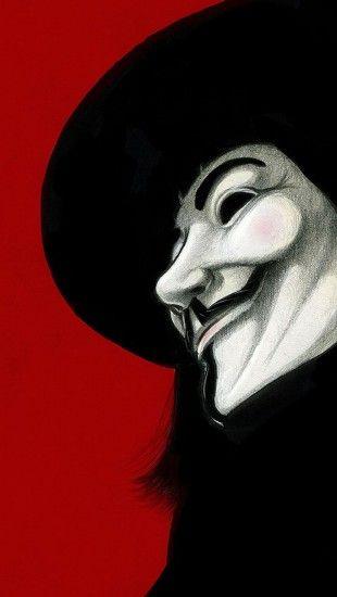 V For Vendetta Mask Wallpaper Army Pinterest • The worl...